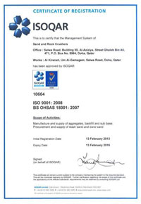 Sample OHSAS 18001 Certificate